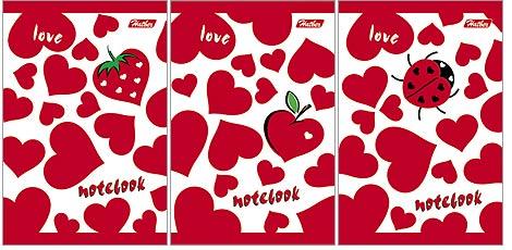 Зап. книжка А7 40л спир Love, Сердечки