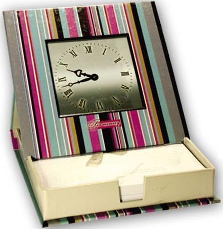 Блок д/записей с фоторамкой Часы