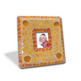 Мозаика керамическая Фоторамка оранжевая 14х15см