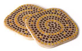 Мозаика керамическая Подставка бежевая 10х10см