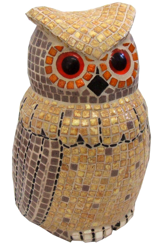 Мозаика керамическая Фигура сова 10х10см 2 шт.