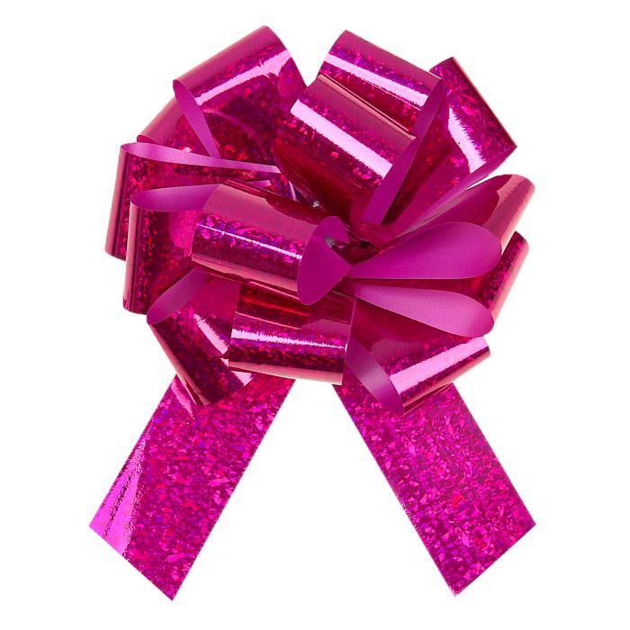 Праз Бант-шар 32мм голографический Розовый