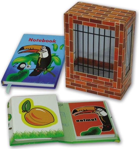 """Набор подар. """"Зоопарк"""" Вид 1 2 зап. книжки, блок д/зап."""