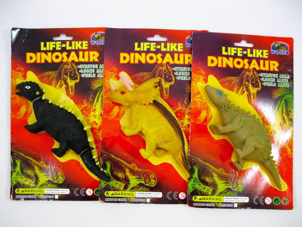 """Игрушка-тянучка Динозавры в ассорт, """"Диалоги о животных"""""""