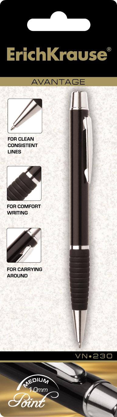 Ручка подар. EK Avantage VN-230 поворотная, бордов. корпус с резинк