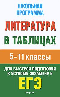 Литература в таблицах. 5-11 кл.: Справочные материалы