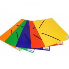 Папка на резинках А4 EK картон. цветн.