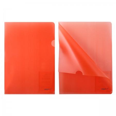 Папка-уголок 1 отд Proff прозрачная красная 0,20мм