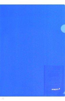 Папка-уголок 1 отд Proff прозрачная синяя 0,20мм