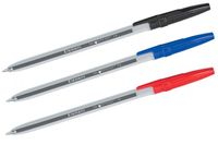 Ручка шариковая Silwerhof синяя автомат 0.7мм резин. держ.