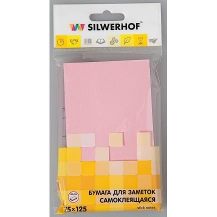Блок липкий 75*125 100л розовый