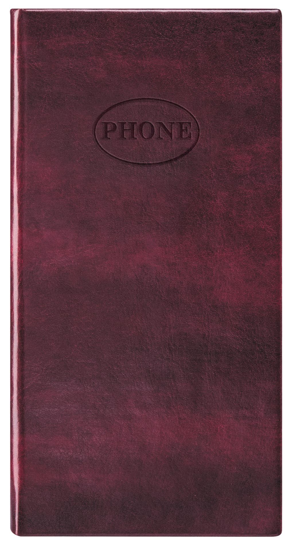 Телефонная книжка А6 Nebraska Burgundy (бордо)