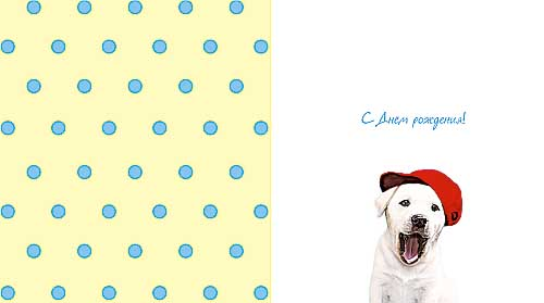 Открытка 0164.026 Эй, симпатяга! сред, лак, пес в красной кепке