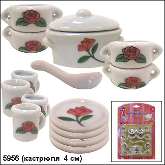 Набор посуды Маруся керамический (15 предметов)