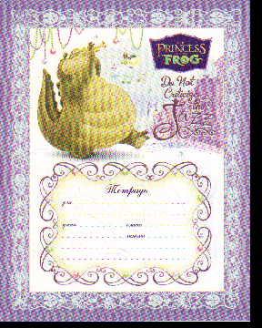 Тетрадь 12л линейка Принцесса и лягушка