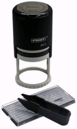 Proff Печать автоматическая самонаборная полуторакруг. R-45мм с осново
