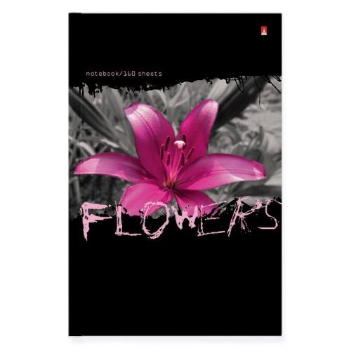 Тетрадь А5 160л кл тв Цветы