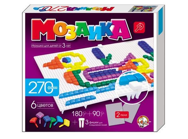 Мозаика 270 фишек 6 цв 2 поля: Для детей от 3 лет