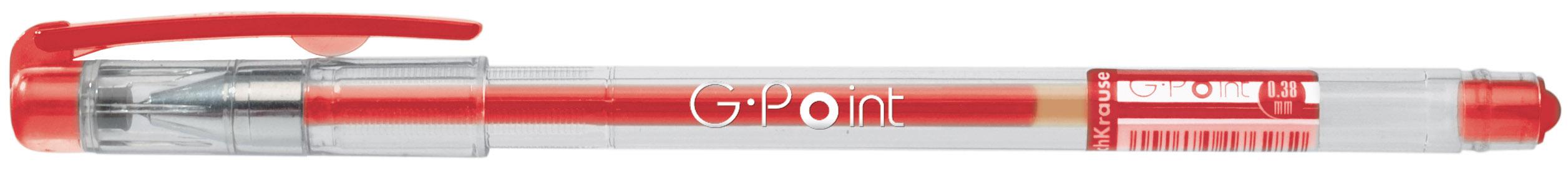 Ручка гелевая красная EK G-Point 0.38мм