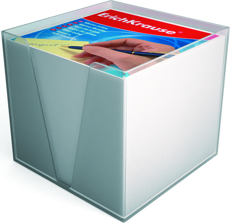Блок д/записей 90*90*90 EK белый в пластик. подст.