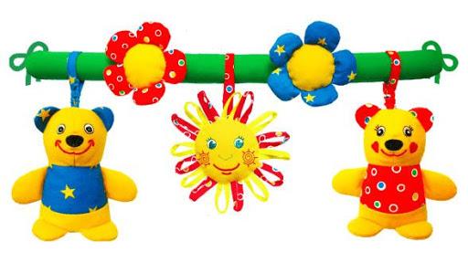 Развивающие игрушки Мякиши: Подвеска Медвежата