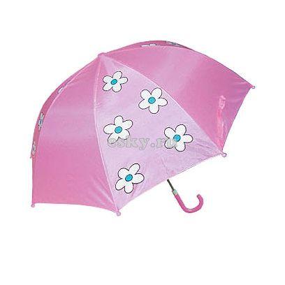 Зонт детский Белый цветок (непрозрачный)