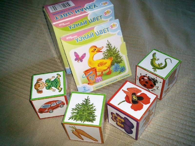 Кубики 4шт Step Потешки. Счет до 5. Узнай цвет + книжка ассорти