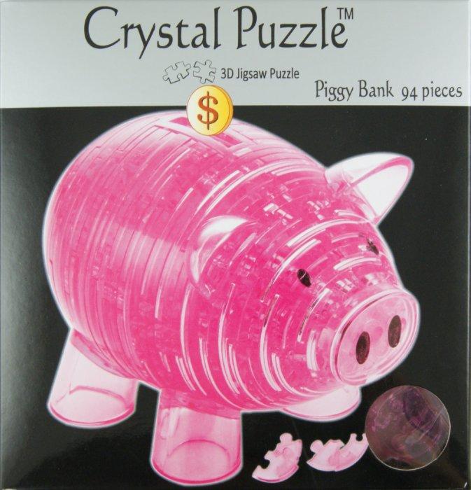 Головоломка Копилка Свинья розовая
