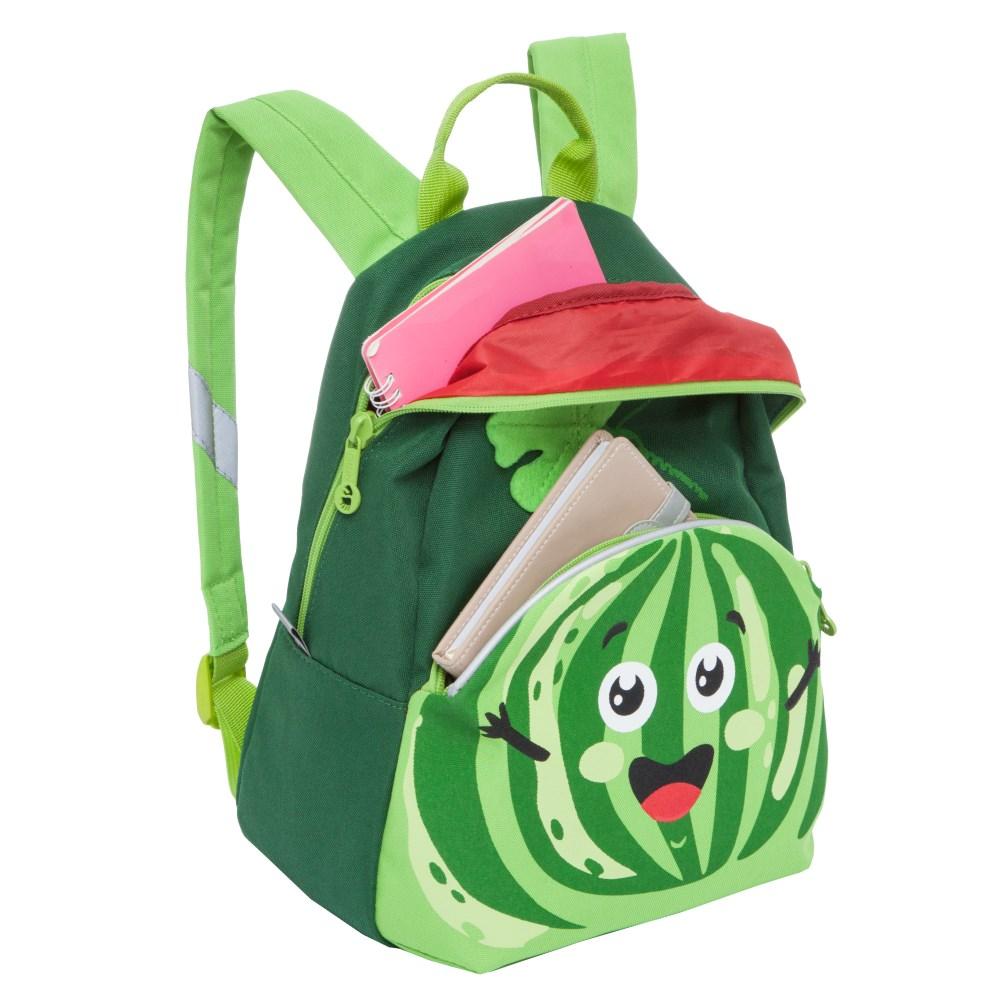 Рюкзак детский Grizzly Арбуз зеленый