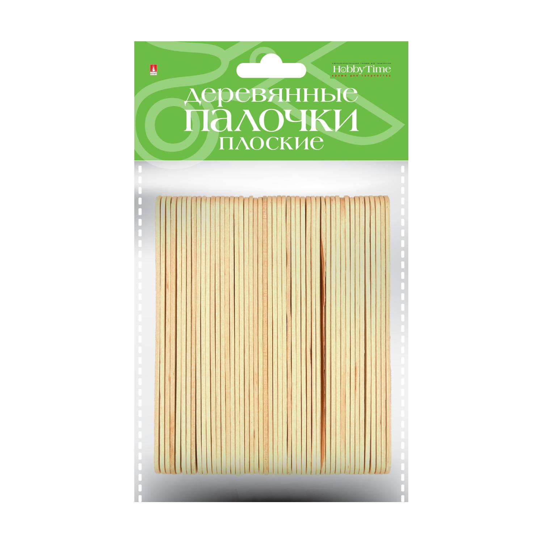 Заготовка дерево Палочки плоские 12,5см 50шт