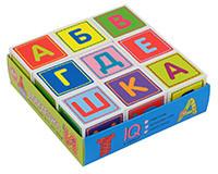 Игра Умные кубики в поддончике 9шт. Абвгдешка