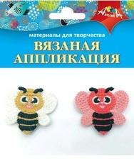 Аппликация вязаная Пчелки 2шт