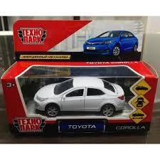 Машина Toyota Corolla 12см, металл, открыв. двери, инерц, белый