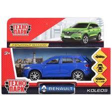 Машина Renault koleos 12см открыв. двери, инерц, синий