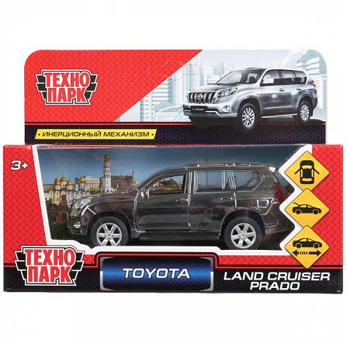 Машина Toyota prado металл хром серебристый 12см открыв. двери, инерц