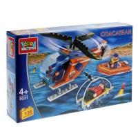 Конструктор Спасательный вертолет с фигурками 135 дет.
