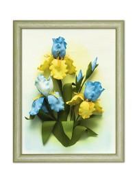 Творч Картины из фоамирана 3D 35*28 Ирисы