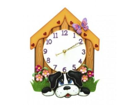 Набор из фоамирана Часы Щенок