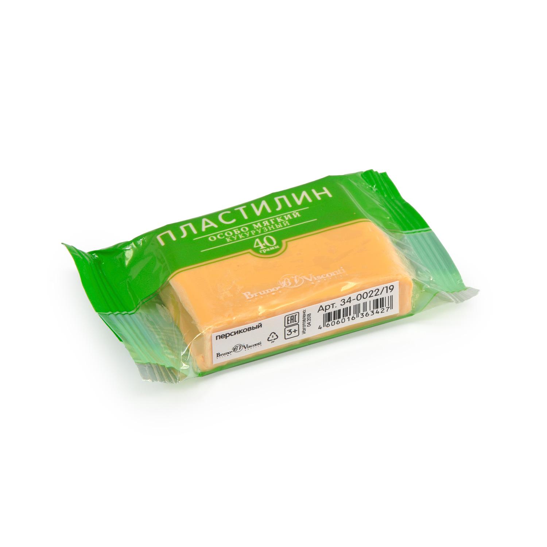 Пластилин 1 цв Bruno Visconti кукурузный персиковый 40гр