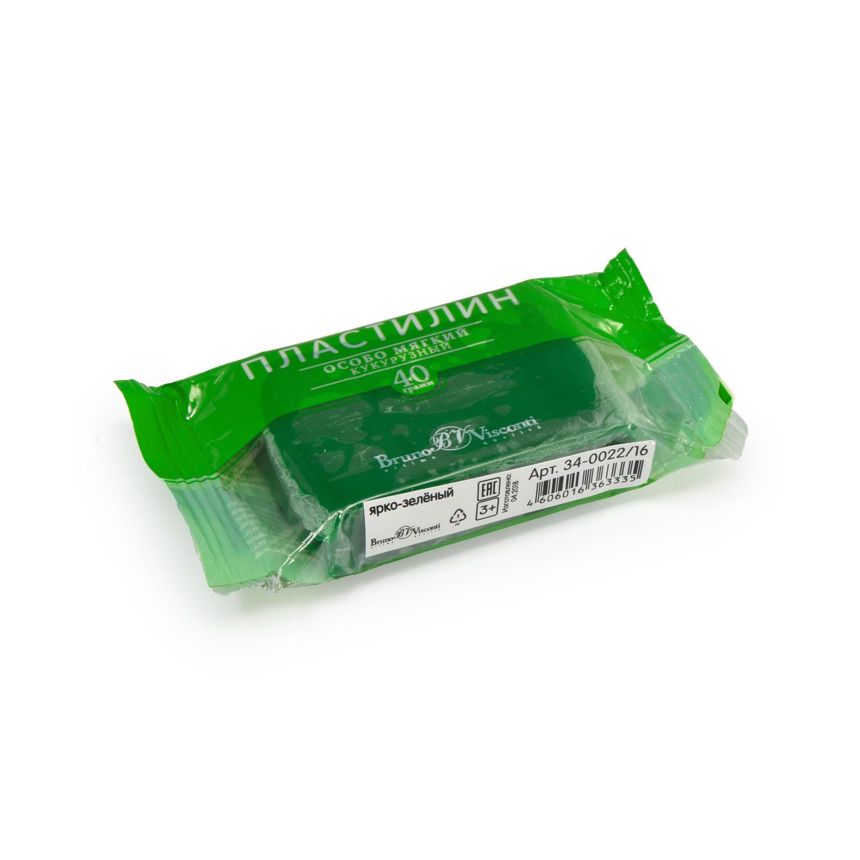Пластилин 1 цв Bruno Visconti кукурузный ярко-зеленый 40гр