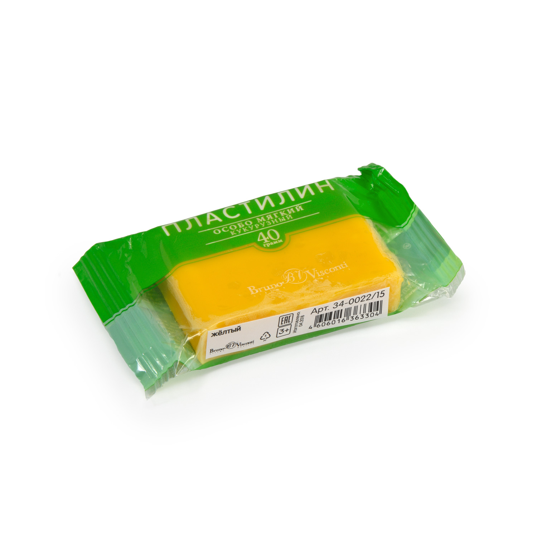 Пластилин 1 цв Bruno Visconti кукурузный желтый 40гр