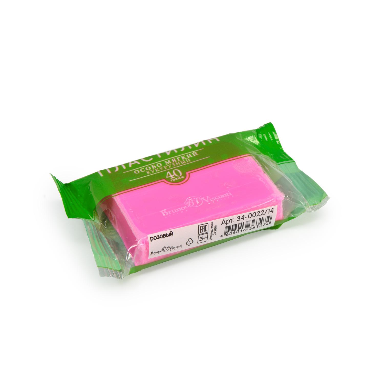Пластилин 1 цв Bruno Visconti кукурузный розовый 40гр
