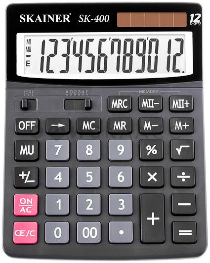 Калькулятор 12 разр. SKAINER бухгалтерский