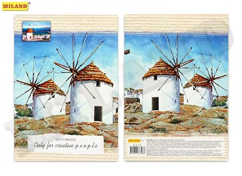 Блокнот А5 48л Ветряные мельницы Скетчбук