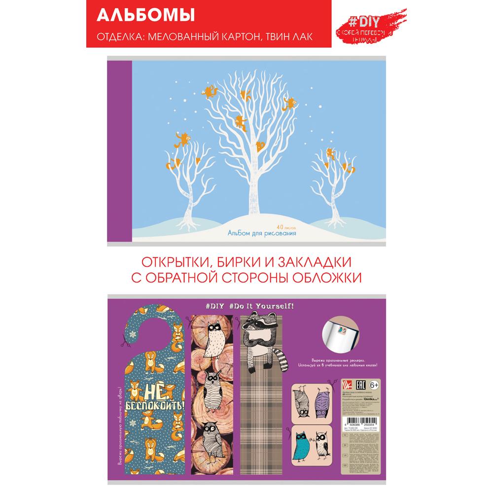 Альбом д/рис 40л DIY Collection. Зимние игры (графика) 110г/м2