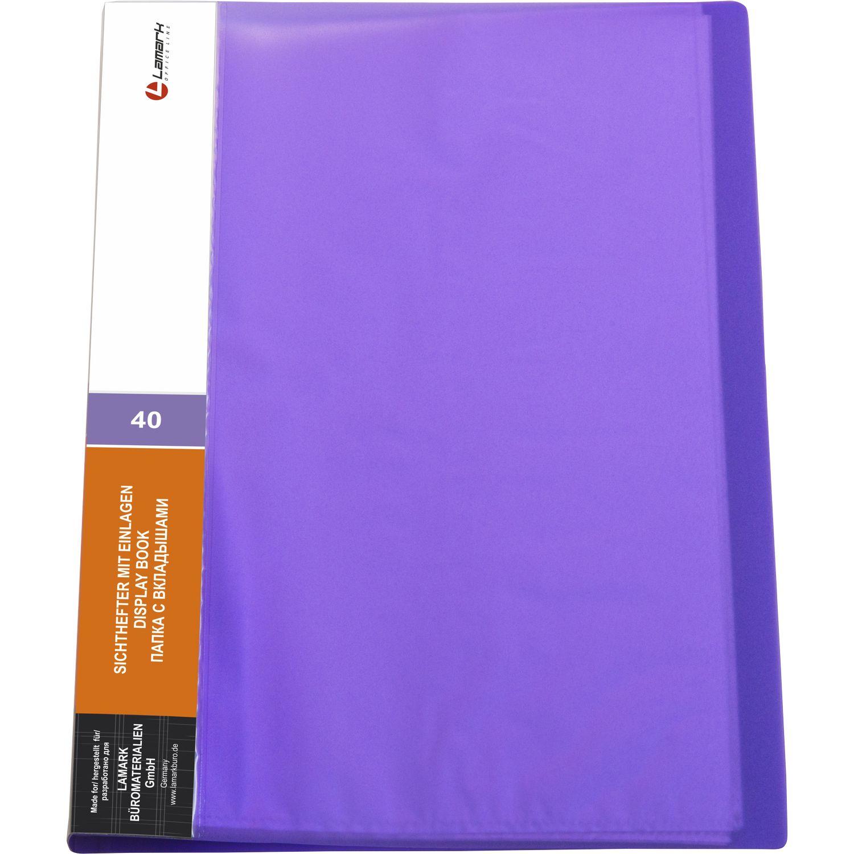 Папка-файл А4 40л Lamark фиолетовый
