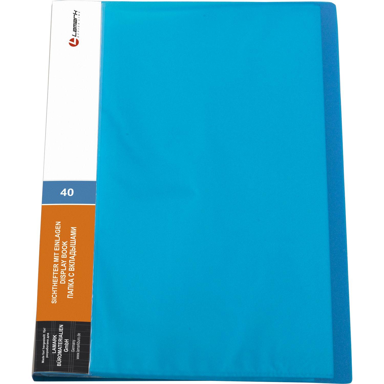 Папка-файл А4 40л Lamark неон синяя