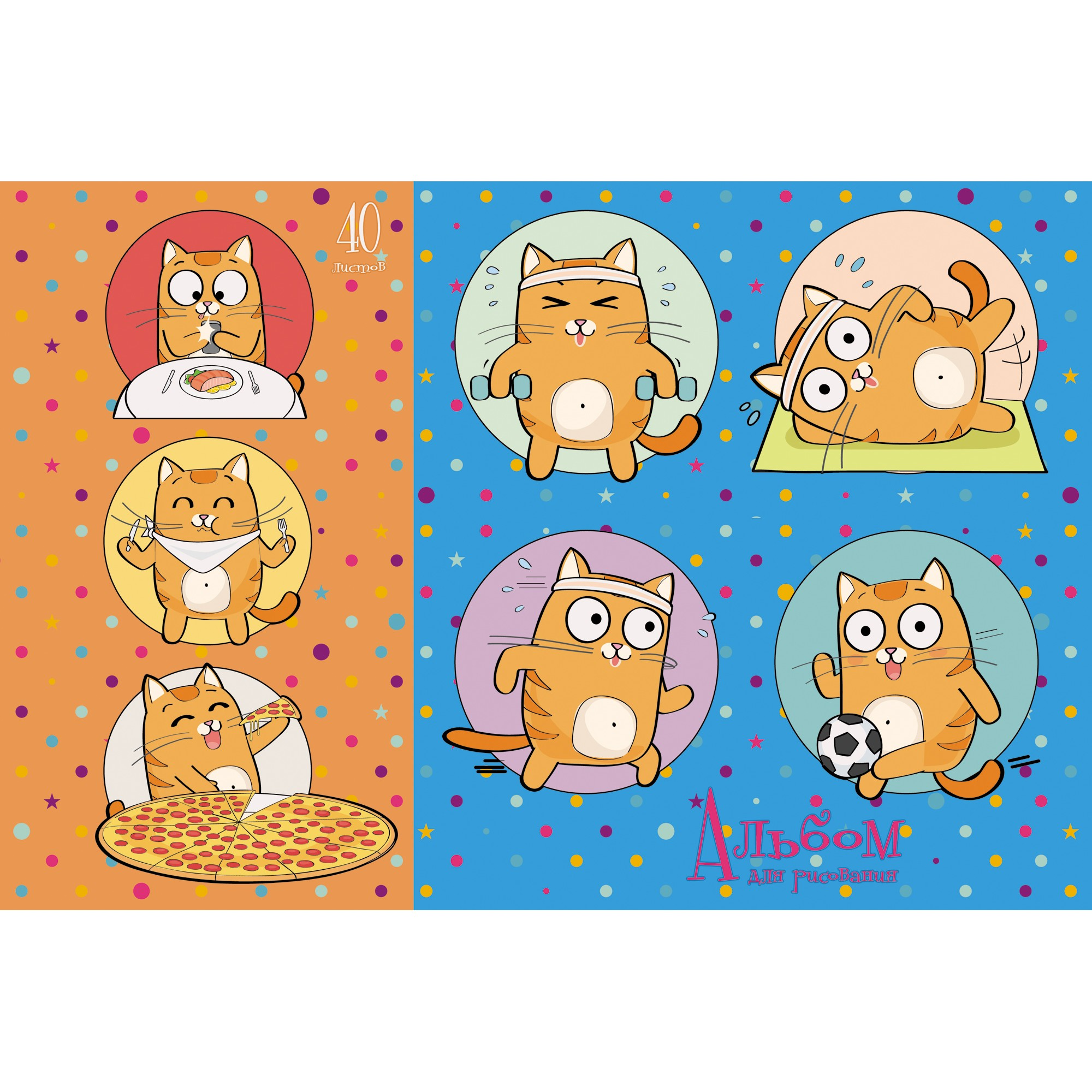 Альбом д/рис 40л спир День кота