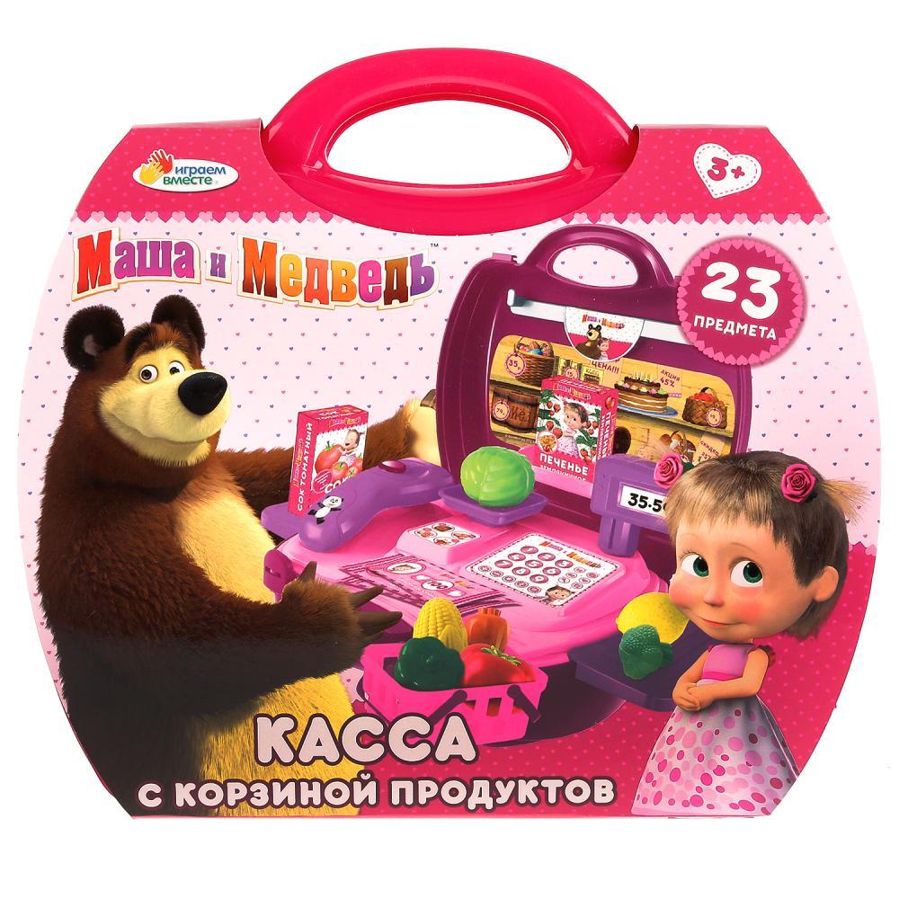 набор Касса Маша и Медведь с набором продуктов (23 предмета)