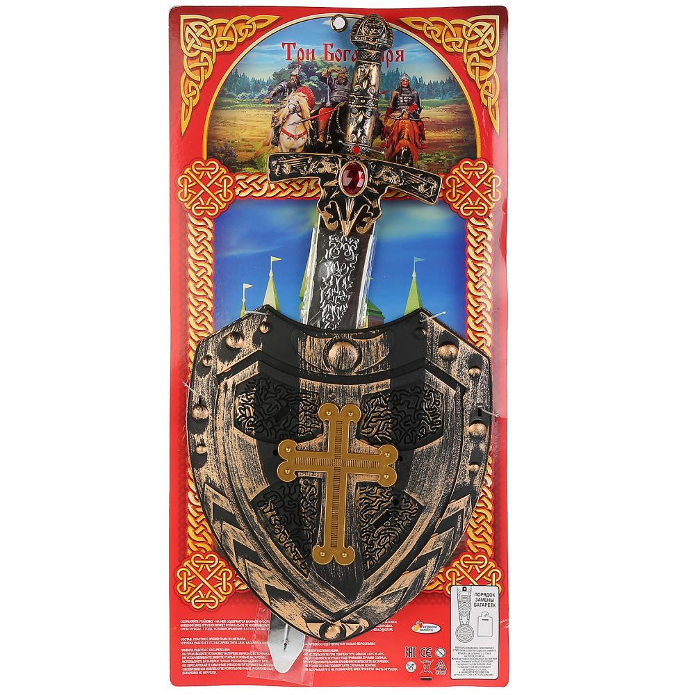 Набор оружия Три богатыря (меч, щит) озвуч.